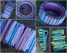 Stripes bracelet and pendant by Anna Jour, via Flickr