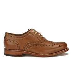 Get Grenson Women's Rose Brogues - Tan now at Coggles - the one stop shop for the sartorially minded shopper. Free UK & EU delivery when you spend Tan Shoes, Lace Up Shoes, Oxford Shoes, Tan Leather, Leather Shoes, Grenson Shoes, Goodyear Welt, Brogues, Chelsea Boots