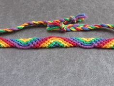 DIY friendship bracelet, rainbow (red, orange, yellow, green, blue, purple), gay community