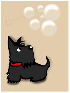 Scottish Terrier perro lámina Scottie Dog por ArchyScottie en Etsy