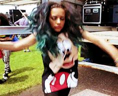 dancing girl little mix jade thirlwall mickey mouse im shirt #gif from #giphy