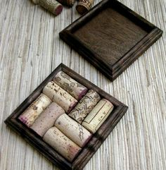 Wine Cork Coasters...well, I definitely have enough corks