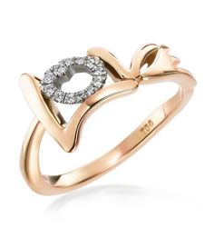 "Mark Patterson - Graffiti 18K Rose Gold ""Love"" Ring"