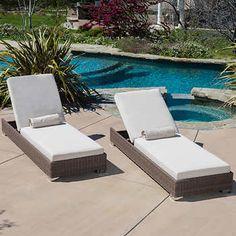 buy zendaya brown wicker sunbrella chaise lounge chairs set of by gdfstudio on opensky