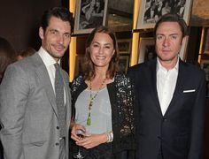 David Gandy at the Red Magazine dinner in honour of Yasmin Le Bon at Bulgari Hotel on June 17, 2015 in London.