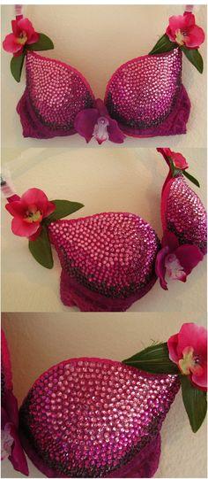 Royal Orchid Ombre Swarovski Crystal Bra. $123.00, via Etsy.