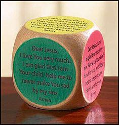 NEW! Children's Prayer Cube