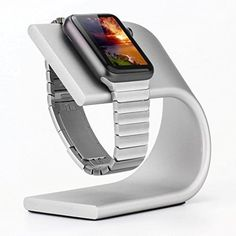 phonewatch Apple Watch Stand Silver Expensive Watch Brands, Luxury Watch Brands, Expensive Watches, Authentic Watches, Best Apple Watch, Docking Station, Cool Watches, Smart Watch, Charger