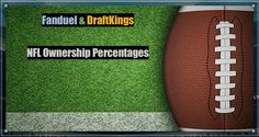 Daily Fantasy Football2016 Week 3Ownership Percentages forFanduel & DraftKings As many of you know, FanDuel blocked seeing Ownership Percentages just before Week 1. For two weeks, we workedto bring you anewand evenbetterway to see Ownership Percentages. We are happy to finally announ