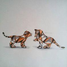 geometric tiger - Google Search