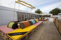 Inrichting Vip Deck voor Libelle Zomerweek 2013 Thema Brasil