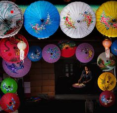 ~ Umbrellas ~ by Peem (pattpoom), via Flickr