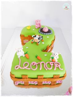 Farm Animals Number Two Cake