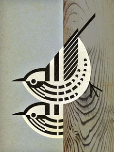 Black-and-White Warblers, Mniotilta varia.