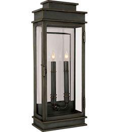 Visual Comfort E.F. Chapman 2 Light Outdoor Wall Lantern in Bronze with Wax CHO2910BZ #visualcomfort #lightingnewyork #lighting