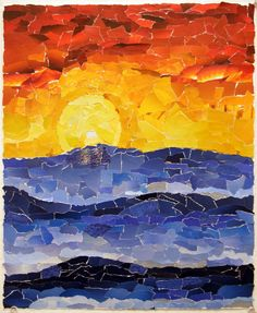 torn paper collage landscape - Google Search