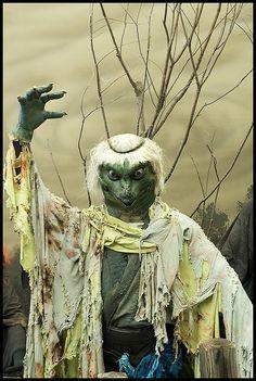 河童 kappa.  Some theorize that the folklore of  Kappa originated via the Shinto river deity kami