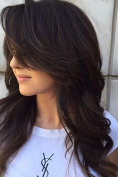 layered with side bangs