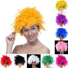 Wigs Feather Turkey Chandelle Wig Costume Party Cosplay Halloween Fancy Dress | eBay