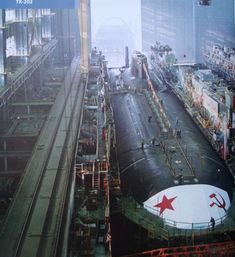 The Typhoon-class ballistic missile submarine, a true display of Soviet power and engineering.
