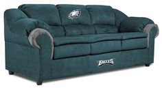Philadelphia Eagles Pub Sofa. Imagine football Sundays spent on this! perfect for any eagles fan's 'man cave'...or you know, lady cave ;)