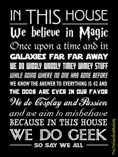 ***PLEASE NOTE: THIS IS FOR A POSTER PRINT ONLY! FRAME NOT INCLUDED***  Do you and your family love all things geeky? If so, this poster is for