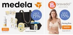 In honor of National #Breastfeeding Month we're offering 15% off all @Medela & @Bravado Designs #bfing essentials and acccessories!