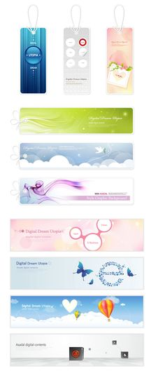 Korea romantic design banner vector graphic | Vector appliances