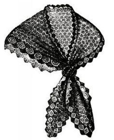 Vintage knitting pattern- charles dickens era lace stitch shawl