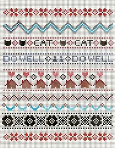 sampler print - also cutr borders