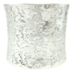BLING BY WILKENING PRECISION LASER-CUT RHODIUM PLATED COUTURE BANGLE - $230.