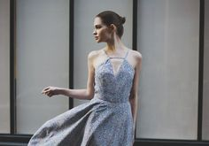 Ioana dress - Spring-Summer 2015 collection. Bespoke long floral dress for wedding or cocktail. Paris & London