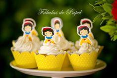 Topper para cupcake | Fábulas de Papel | Elo7