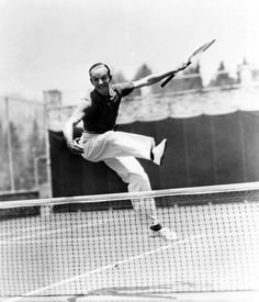 Fred Astaire playing tennis