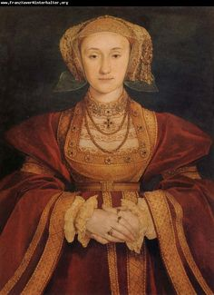 Anne of Cleves, 4th wife of King Henry VIII - portrait by Holbein.  On my list of past persons I would like to have dinner with...