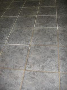 Homemade tile cleaner.  It works!