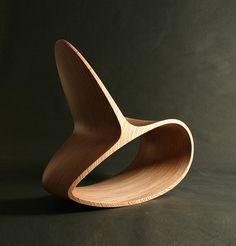Wooden Rocking Chair Modern Ocean Rocker Chair by JolyonYates