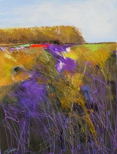 Daily Painters Abstract Gallery: Violet Marsh Ten, abstract landscape by Carol Engles Abstract Landscape Painting, Landscape Art, Landscape Paintings, Abstract Art, Landscape Watercolour, Contemporary Landscape, Contemporary Paintings, Pastel Art, Pastel Paintings