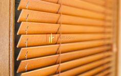 Holzjalousie auf Maß echt Holz Jalousie 25mm Lamellen Farbauswahl