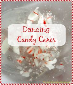 Dancing Candy Canes - Day 18 of our Christmas Science Advent Calendar - Use the baking soda and vinegar reaction to make candy canes dance. Preschool Science, Science Experiments Kids, Science For Kids, Science Ideas, Science Fun, Science Projects, Montessori Science, Elementary Science, Class Projects