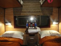 Take a trip on a train where I stay in a sleeper car!