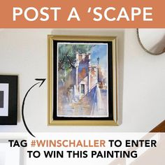 Win this original watercolor painting by Thomas Schaller! All you have to do is follow ArtistsNetwork on Instagram and use the hashtag #WinSchaller when you post your own original landscape. #artgiveaway #landscapepainting #cityscape #seascape Art Contests, Watercolor Paintings, Original Paintings, You Better Work, Ad Art, Pastel Art, Acrylic Art, Landscape Paintings, Fine Art