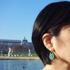 aqua string earrings by Helena Rohner SS14 #helenarohner #earrings