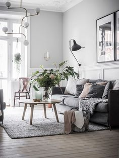coastal living rooms 70 Stunning Grey White Black Living Room Decor Ideas And Remodel living Coastal Living Rooms, Living Room Grey, Living Room Decor, Cozy Living, Bedroom Walls, Bedroom Decor, Deco Boheme Chic, Scandinavian Living, Scandinavian Apartment