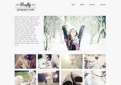 Premade Wordpress Website Blog Template - Firefly  - Minimalistic Portfolio Photography Theme - Fully Responsive - FREE INSTALLATION Photography Themes, Photography Templates, Photography Website, Foto Website, Website Layout, Web Design, Flat Design, Graphic Design, Wordpress Template