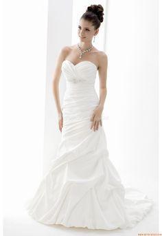 Meerjungfrau Maßgeschneiderte Elegante Brautkleider aus Taft mit Schleppe