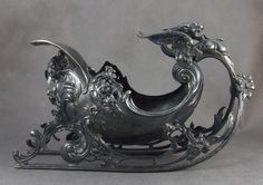 old Art Nouveau Jardiniere, decorative decanter ( WMF? )