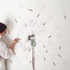 I wish I could wander through a forest of giant dandelions...#watercolour #paper #dandelion