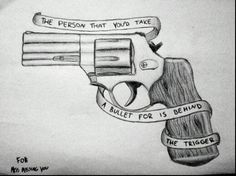 the person you'd take a bullet for is behind the trigger tattoo - Google Search