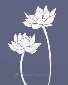 8 x 10 Lotus Flower Wall Decor Living Room Print, Dark Blue Purple Waterlily Wall Art Lotus Flower Art, Watercolor Flower, Lotus Art, Lotus Painting, Fabric Painting, Lotus Kunst, Inspiration Artistique, Living Room Prints, Stencil Patterns